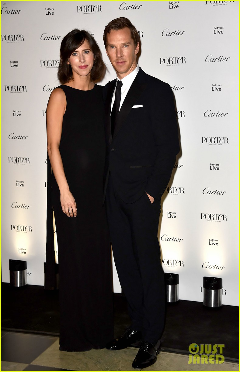 benedict cumberbatch pregnant wife sophie hunter celebrate incredible women at porter 053817948