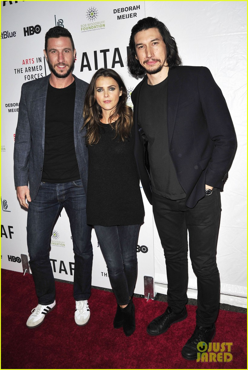 keri russel pablo schreiber join adam driver on stage at arts in the armed forces 023804404