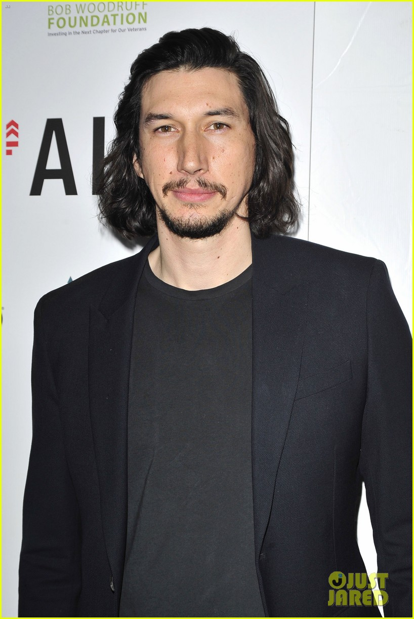 keri russel pablo schreiber join adam driver on stage at arts in the armed forces 053804407
