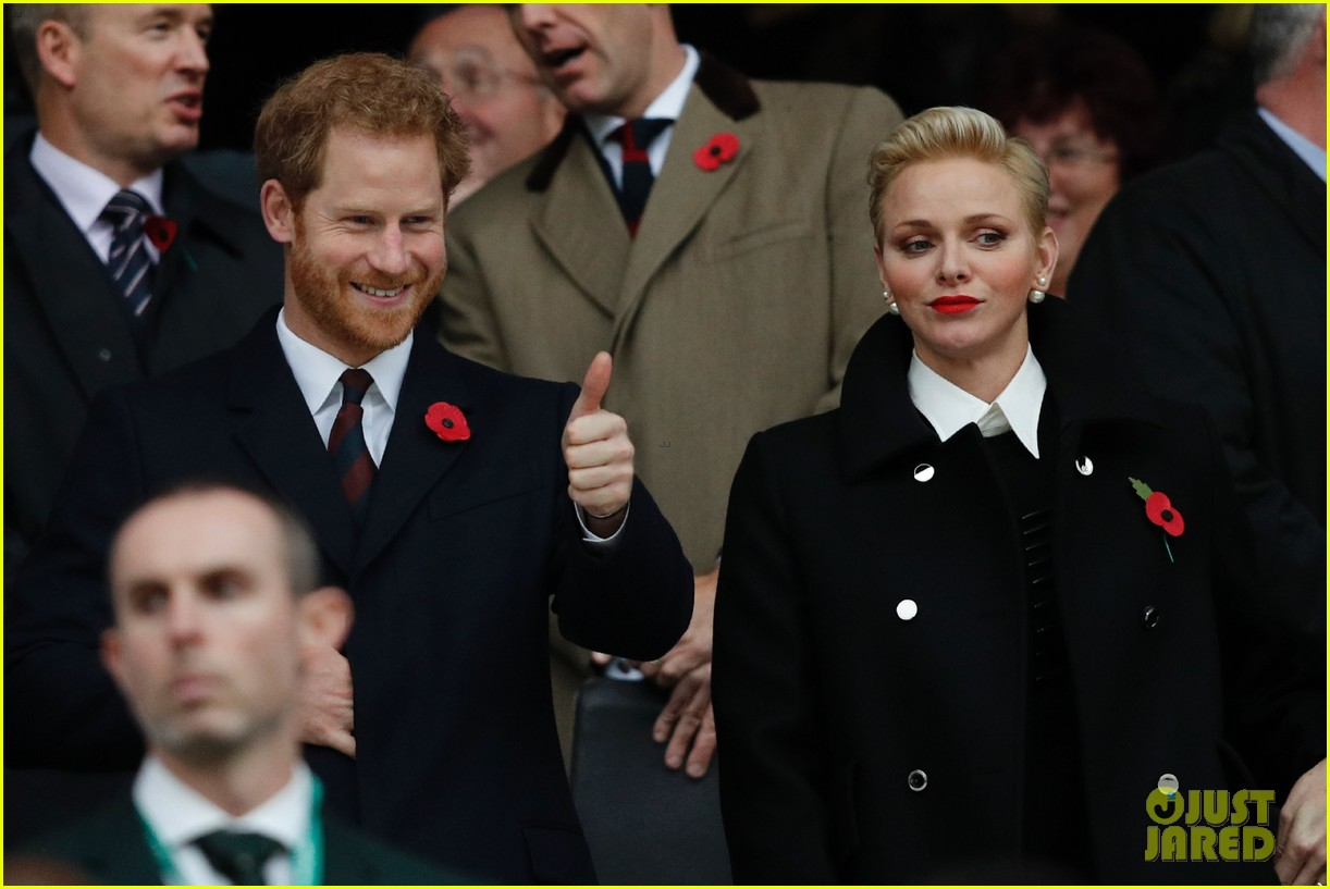 prince harry attends rugby match without girlfriend meghan 033807331