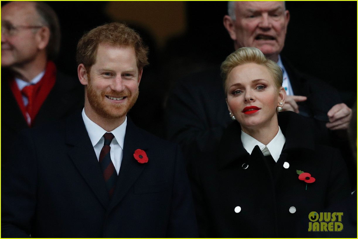 prince harry attends rugby match without girlfriend meghan 053807333
