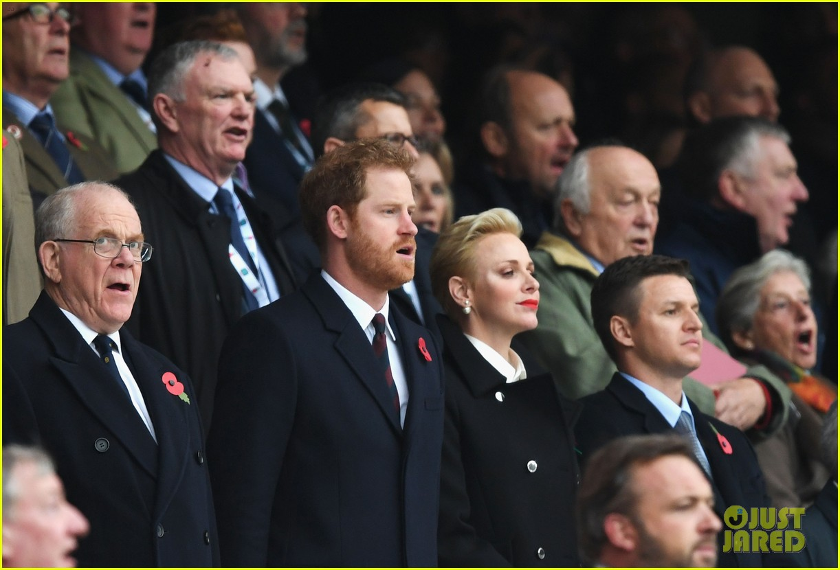 prince harry attends rugby match without girlfriend meghan 073807335