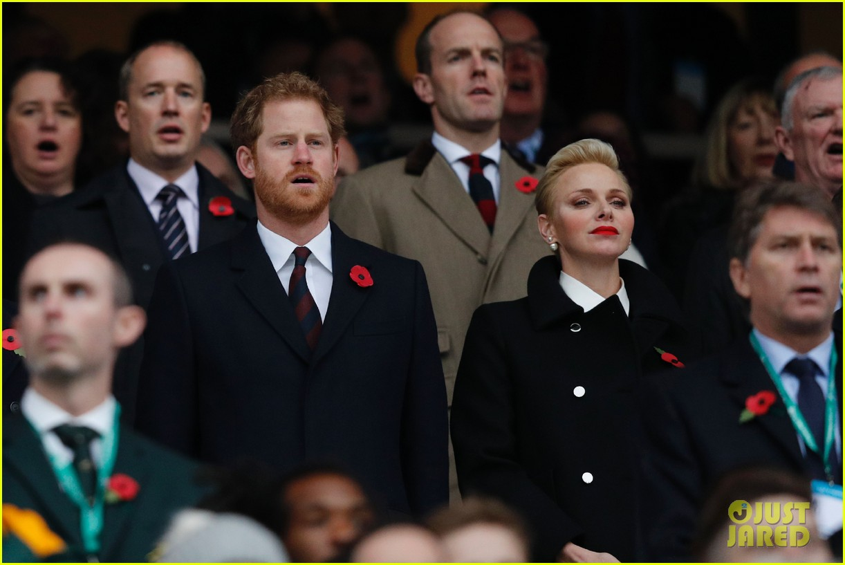 prince harry attends rugby match without girlfriend meghan 093807337
