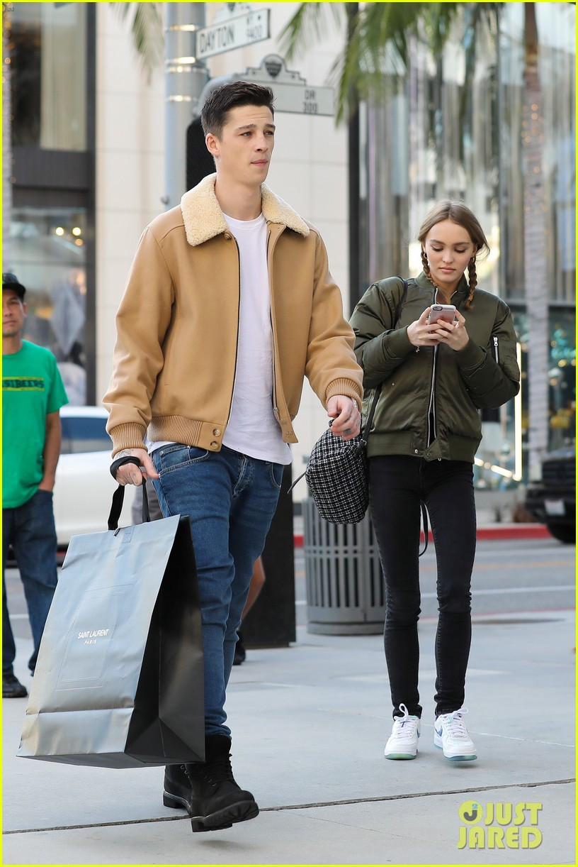 640cd71386cd Lily-Rose Depp & Boyfriend Ash Stymest Couple Up In Beverly Hills ...