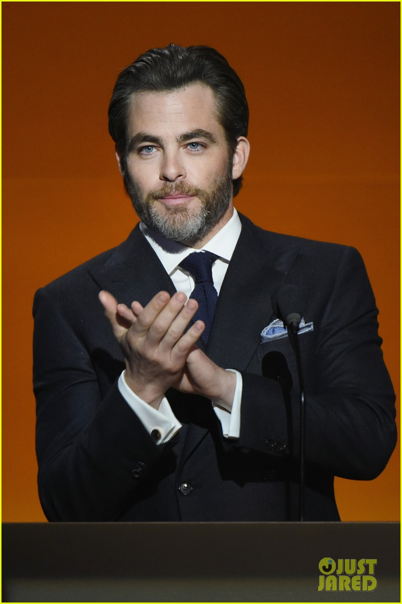 chris pine casey affleck are dapper dudes at rolex gala 243809811