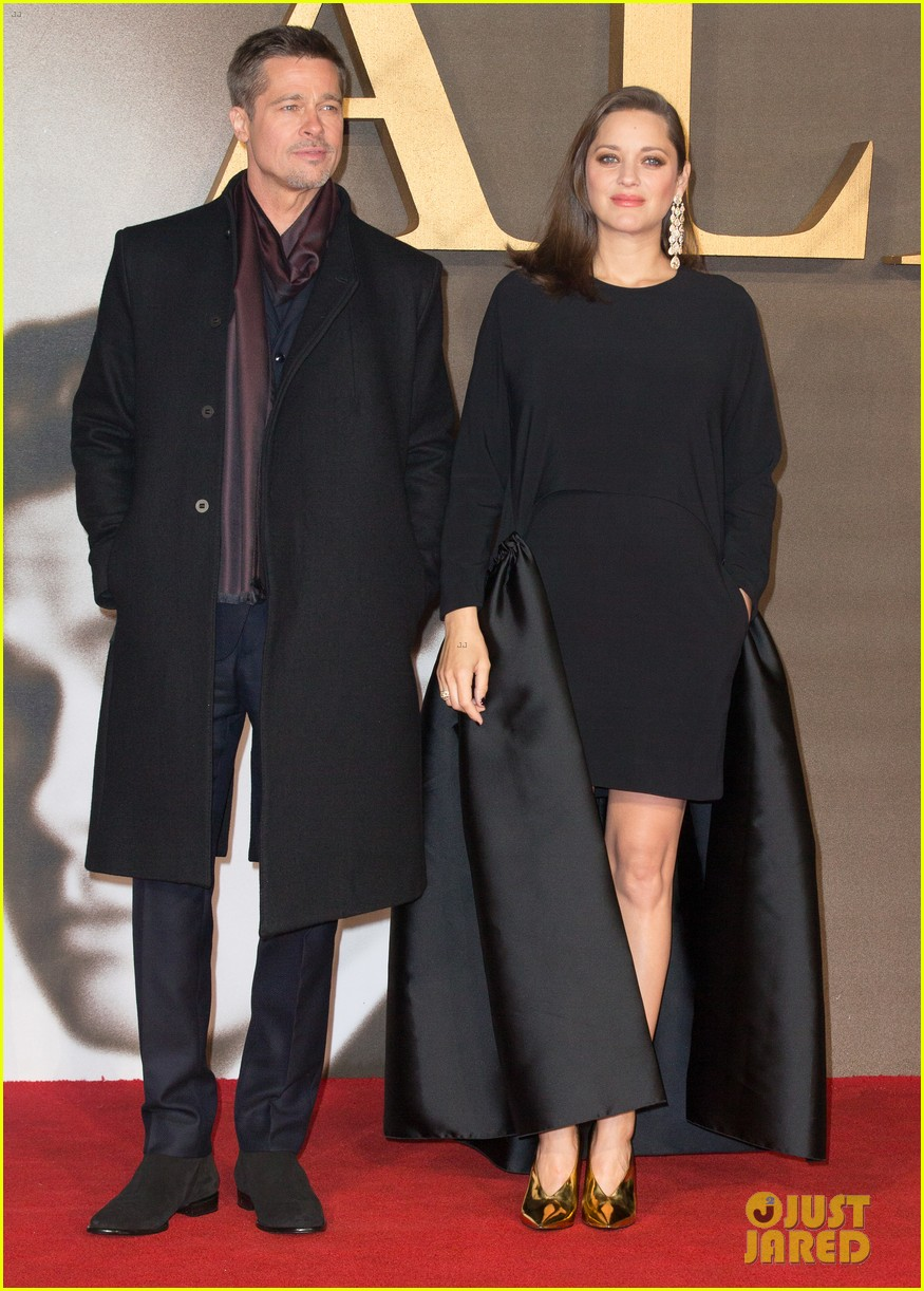 Brad Pitt Takes Allied To London With Pregnant Marion Cotillard