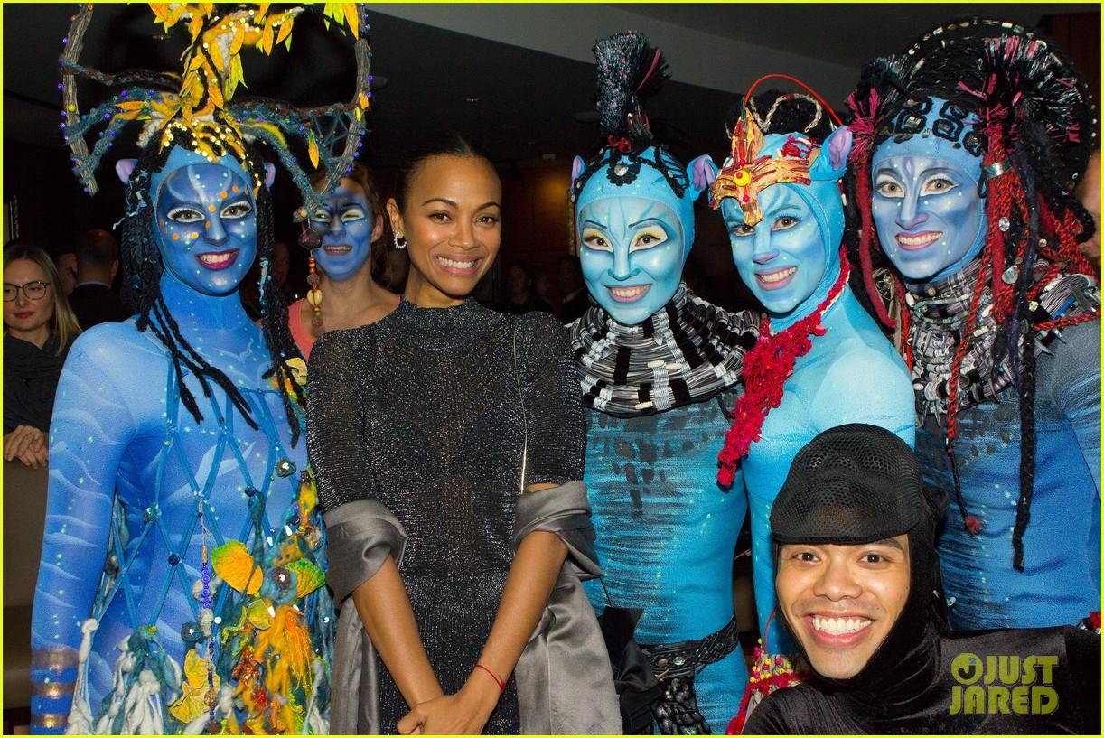 Zoe Saldana Gets In Avatar Spirit At Cirque Du Soleil S