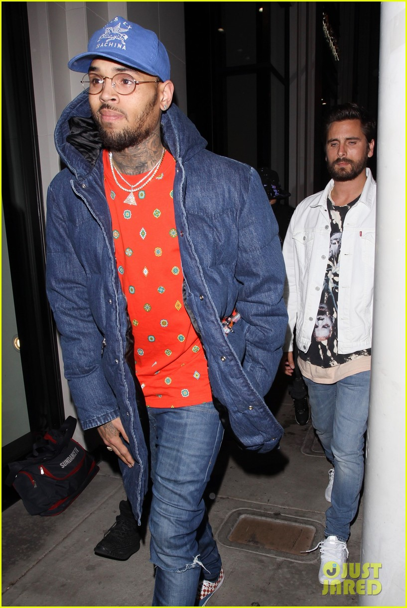 Scott Disick Attends  Fear of God  Launch With Chris Brown  Photo ... 1f073d3af07