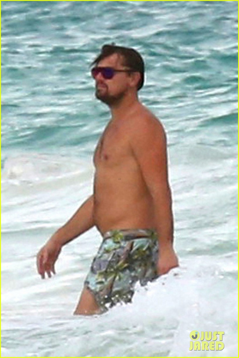 leo dicaprio hits the beach shirtless 033827885