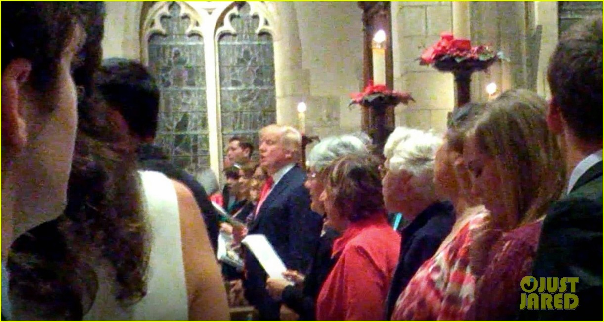 donald trump joins midnight mass in palm beach