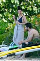 jake gyllenhaal goes shirtless in st barts takes surfing lesson 13