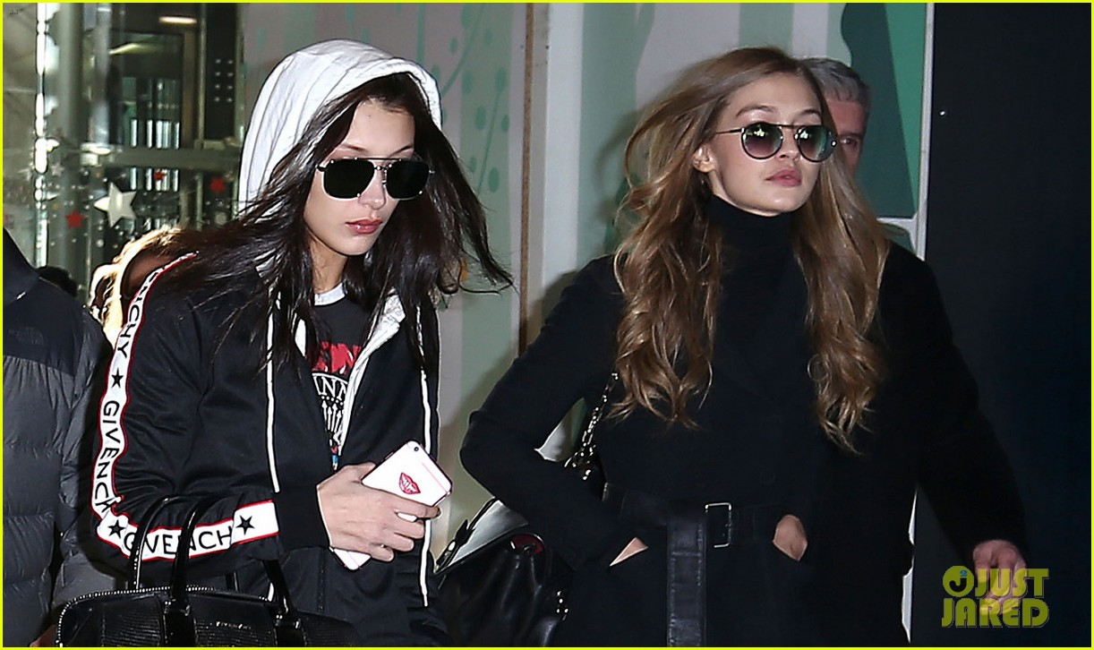 kendall jenner gigi hadid and bella hadid chow down on burgers 033819273