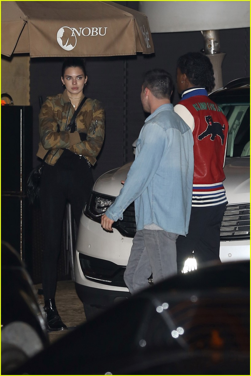 000b6a480219 Kendall Jenner & A$AP Rocky Grab Dinner on During Night Out Together ...
