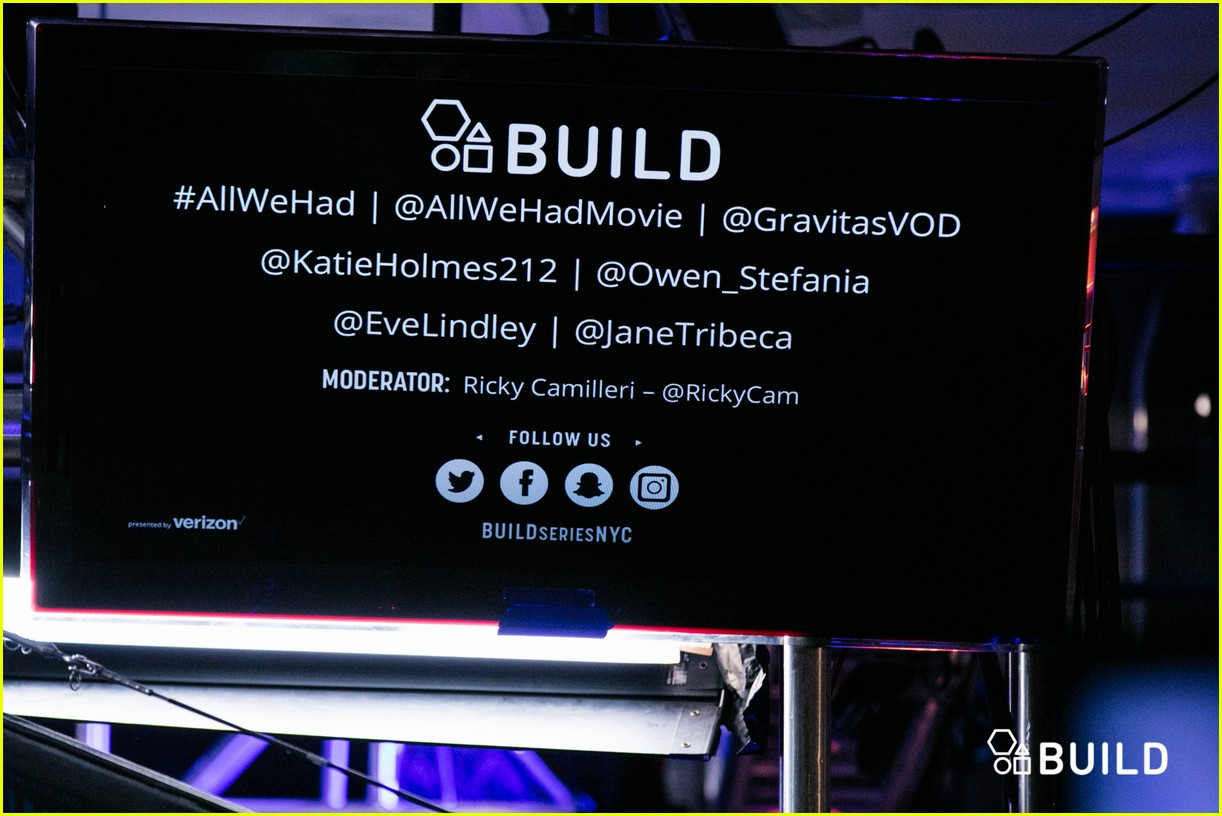 katie holmes stefania owen aol build nyc 263823409