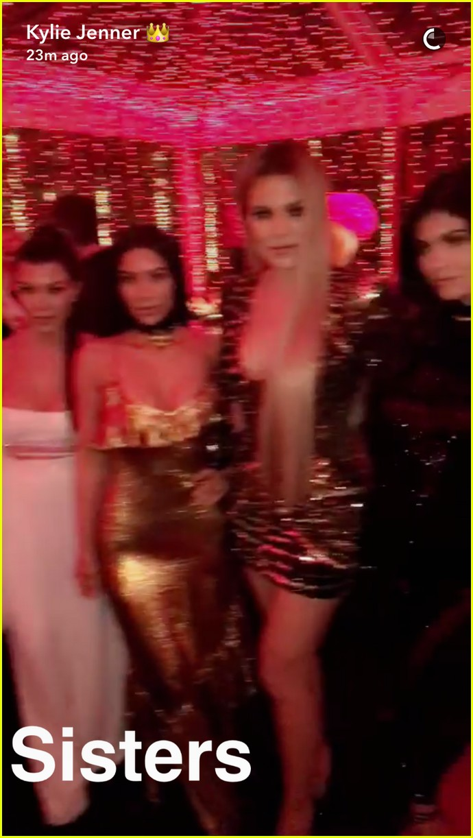 Kim Kardashian Wears a Lip Ring to Kardashian Christmas Party 2016 ...