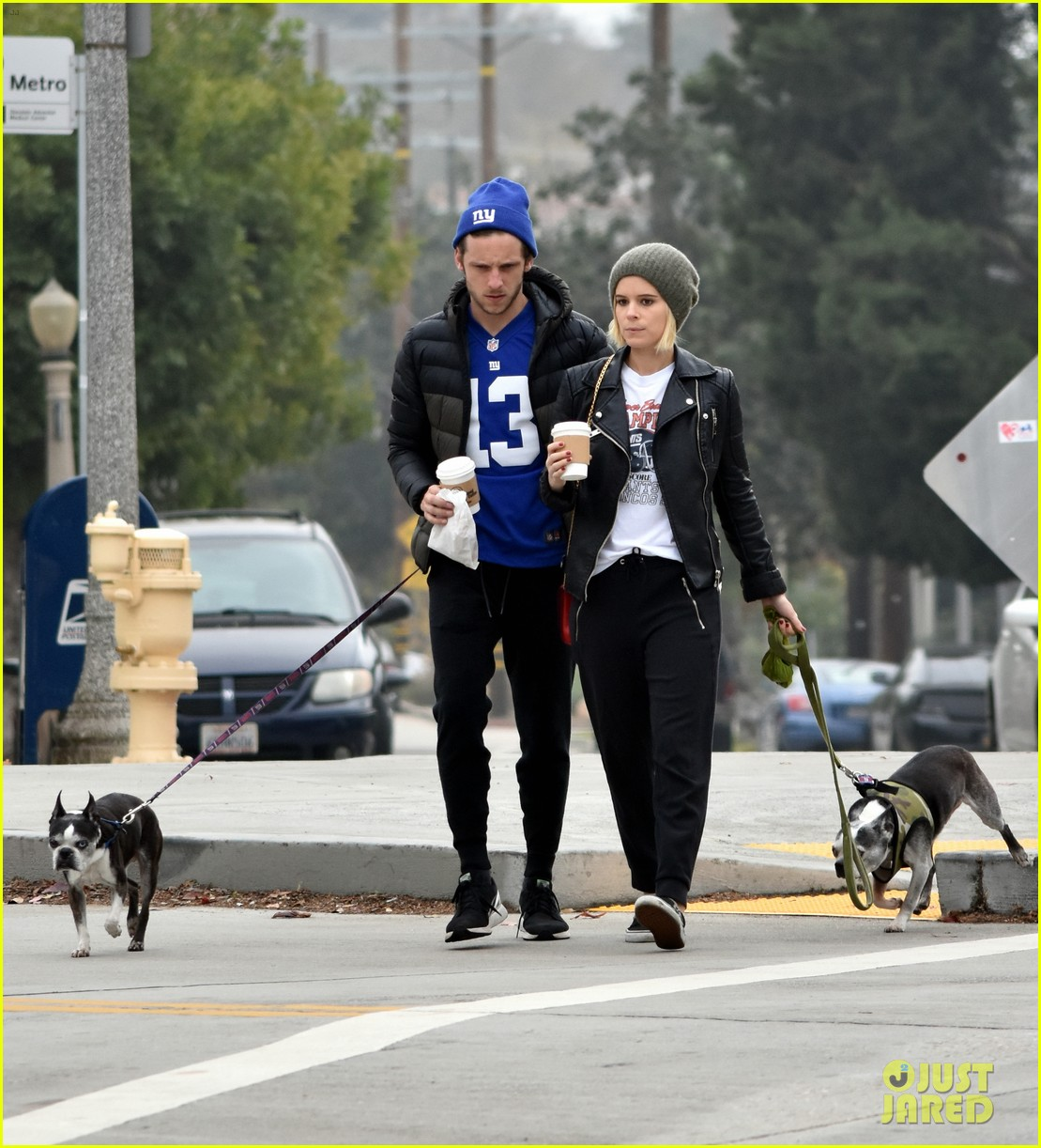 kate mara jamie bell take their dogs for a walk 073827979