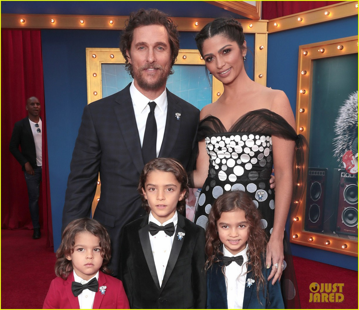 matthew mcconaughey and his family step out for sing premiere 053820466