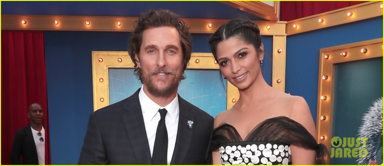 matthew mcconaughey and his family step out for sing premiere 073820468