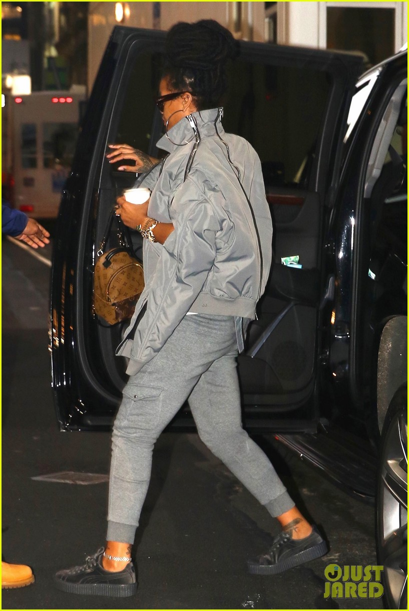 free shipping 50241 59819 Rihanna Arrives to 'Ocean's Eight' Set in Her Fenty x Puma ...