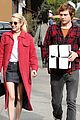 emma roberts and evan peters step out to mail their christmas gifts 09