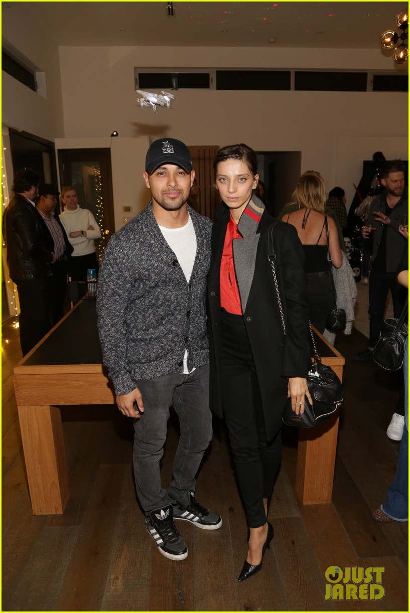 wilmer valderrama angela sarafyan just jared holiday party 033831051