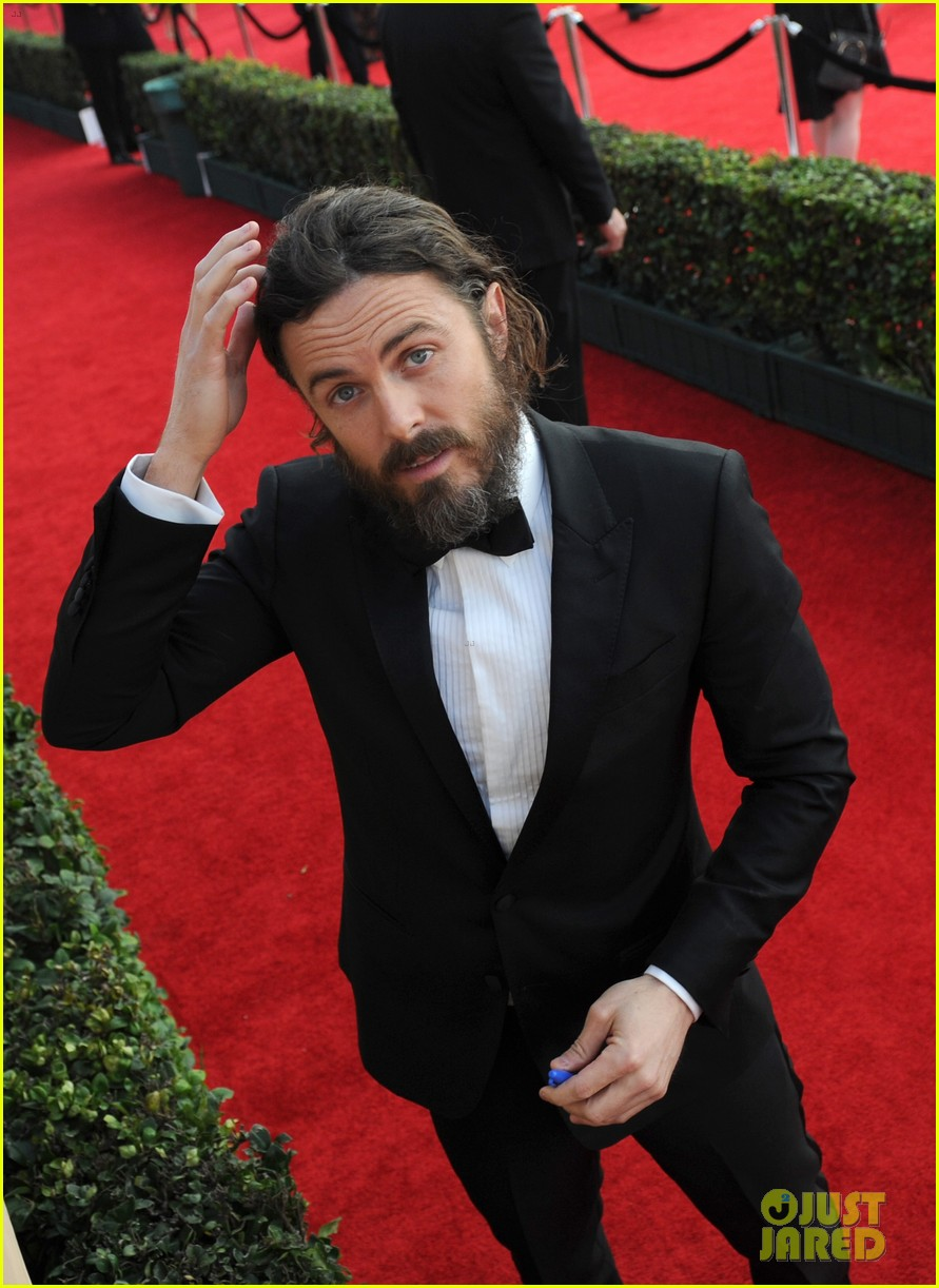 Full Sized Photo of casey affleck lucas hedges sag awards ... Ben Affleck