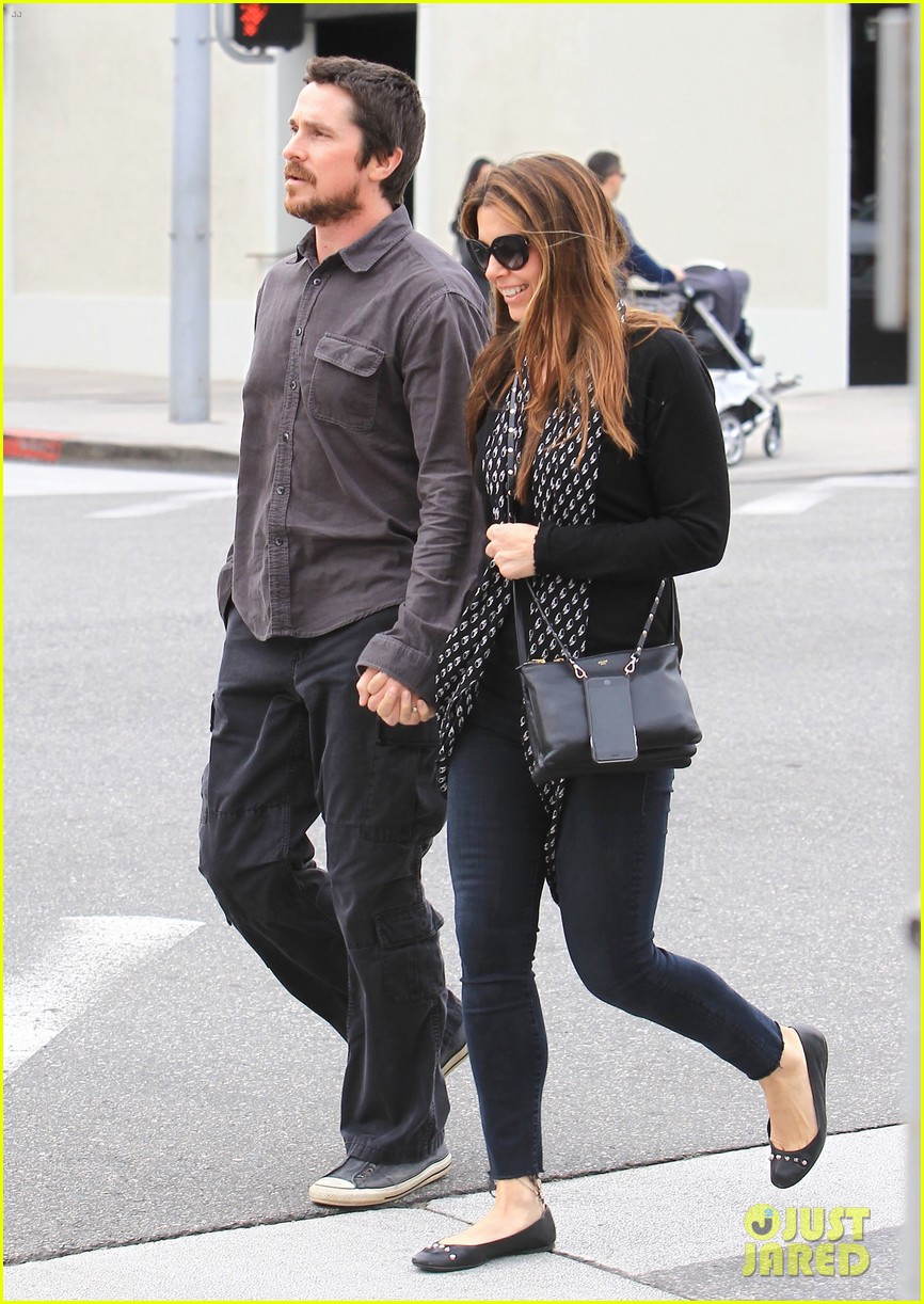 christian bale sibi blazic hold hands stroll around town 013844938