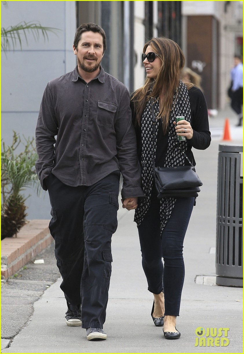 christian bale sibi blazic hold hands stroll around town 053844942