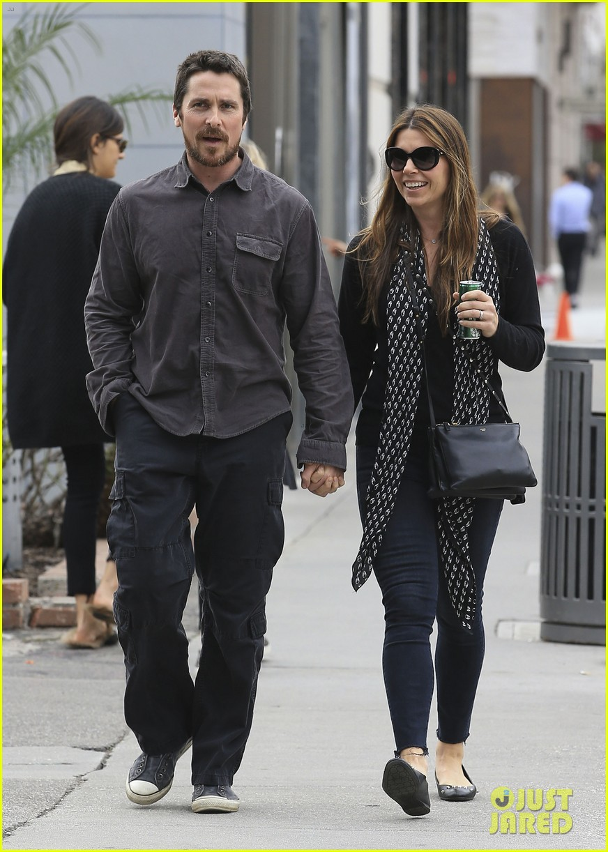 christian bale sibi blazic hold hands stroll around town 063844943
