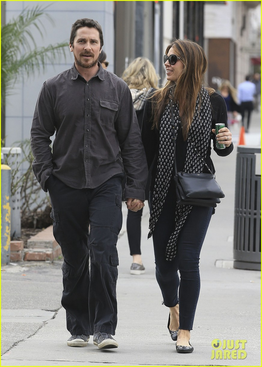 christian bale sibi blazic hold hands stroll around town 083844945