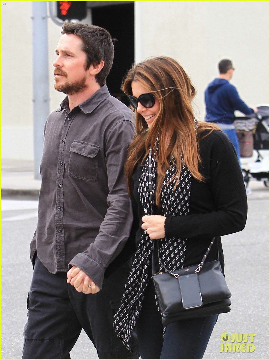 christian bale sibi blazic hold hands stroll around town 093844946
