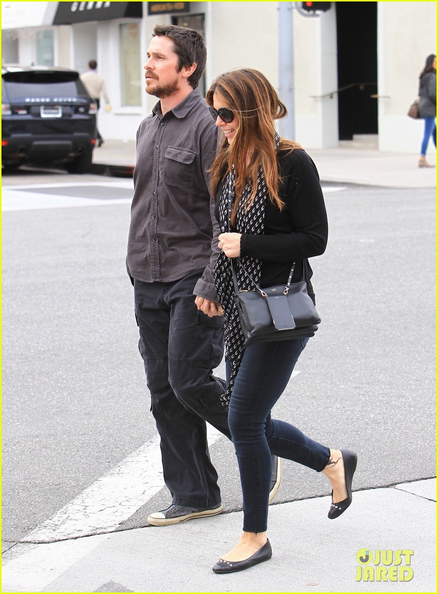 christian bale sibi blazic hold hands stroll around town 103844947