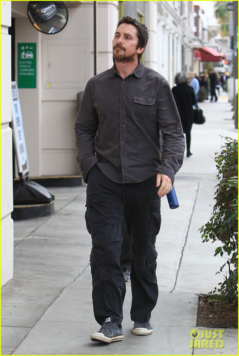 christian bale sibi blazic hold hands stroll around town 133844950