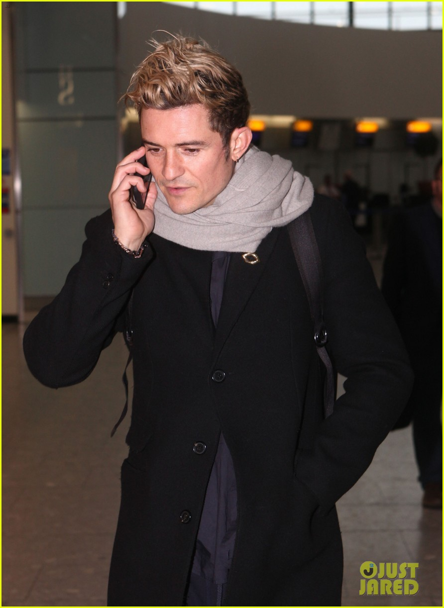 orlando bloom jets to london for bbc the one show appearance 083850207