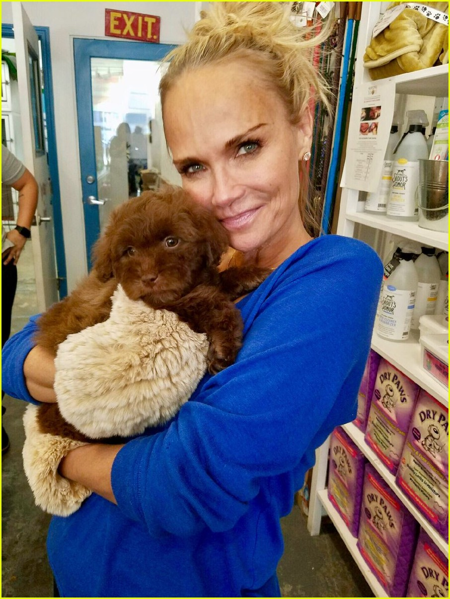 kristin chenoweth adopts a new dog meet thunder 013838102