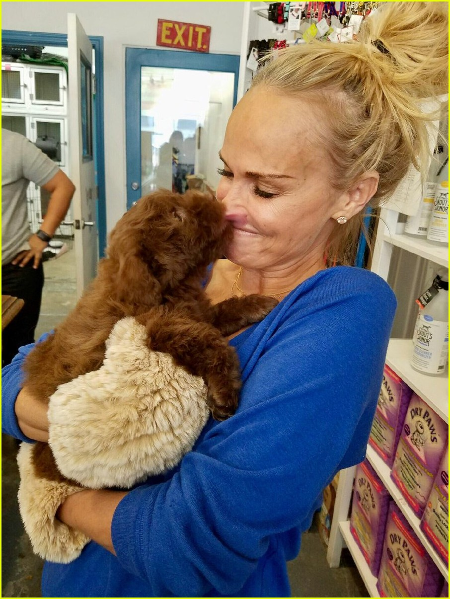 kristin chenoweth adopts a new dog meet thunder 043838105