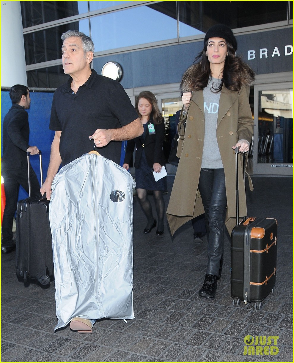 george amal clooney arrive at lax airport los angeles 023848668