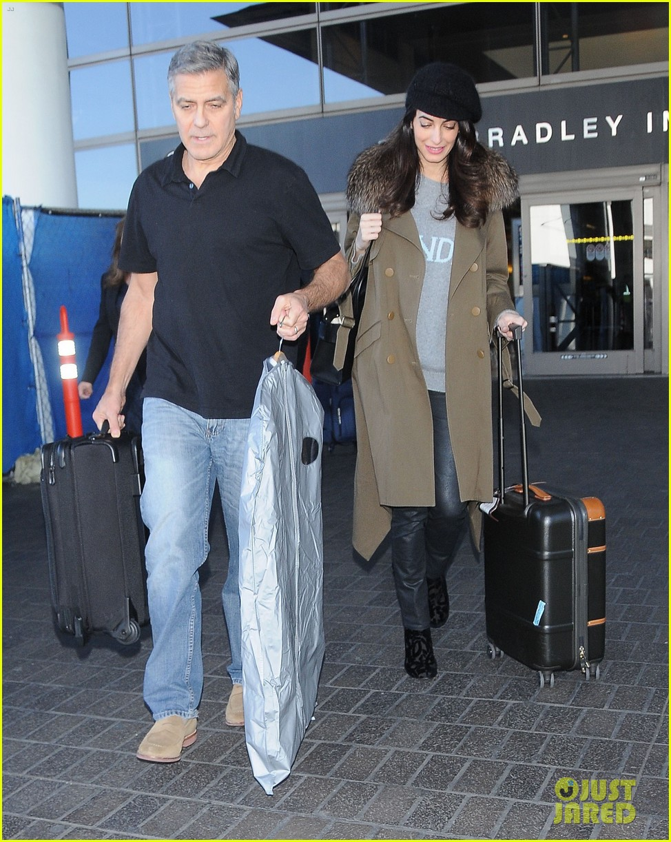 george amal clooney arrive at lax airport los angeles 053848671