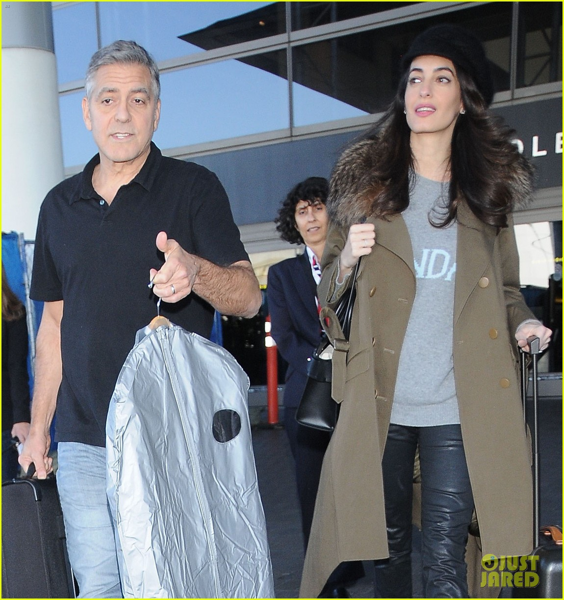 george amal clooney arrive at lax airport los angeles 073848673