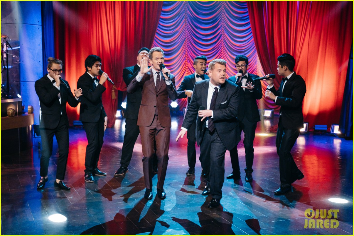 neil patrick harris james corden have epic broadway riff off on the late late show 043840578