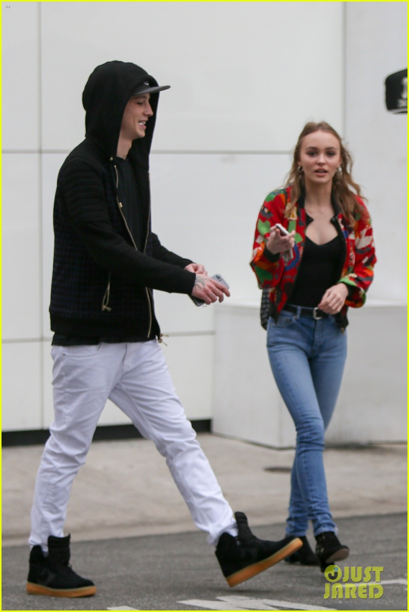 21ba02be847d Lily-Rose Depp & Boyfriend Ash Stymest Go Shopping in Beverly Hills ...