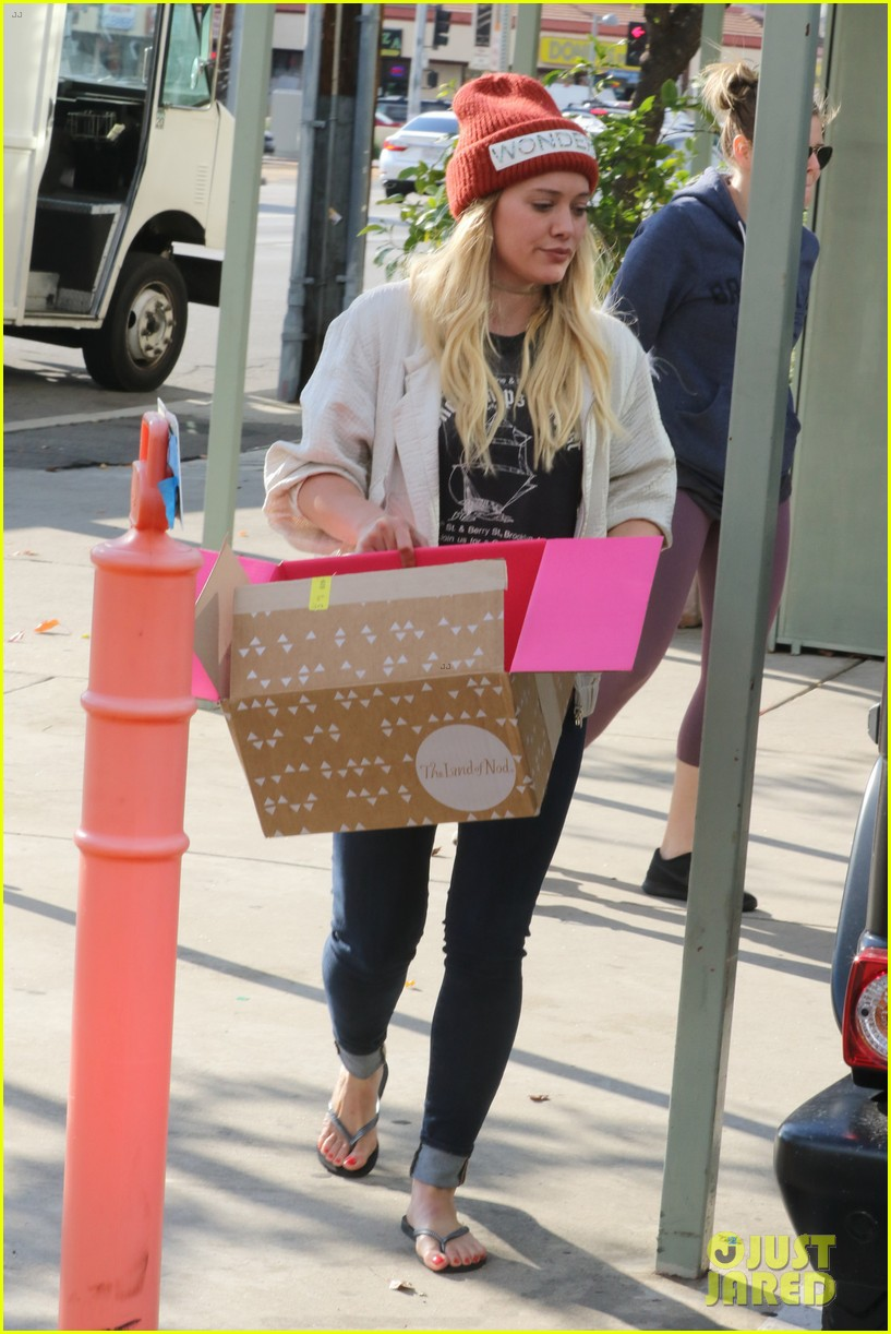 hilary duff lets fans know shes nursing herself back to health 053842723