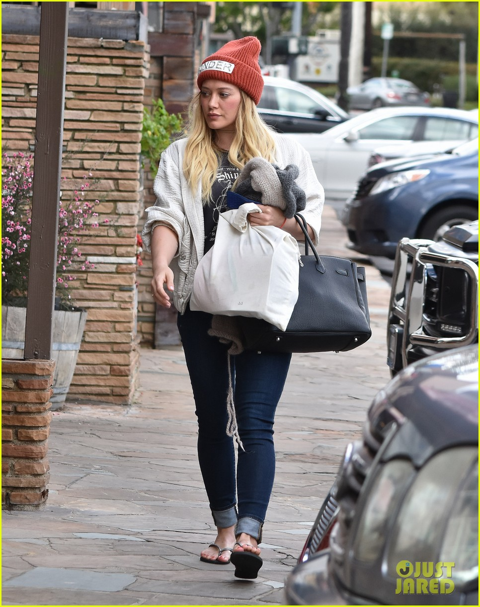 hilary duff lets fans know shes nursing herself back to health 083842726