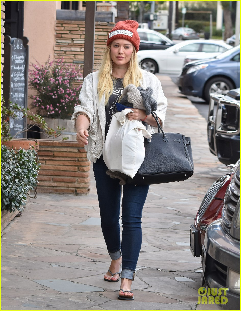 hilary duff lets fans know shes nursing herself back to health 103842728