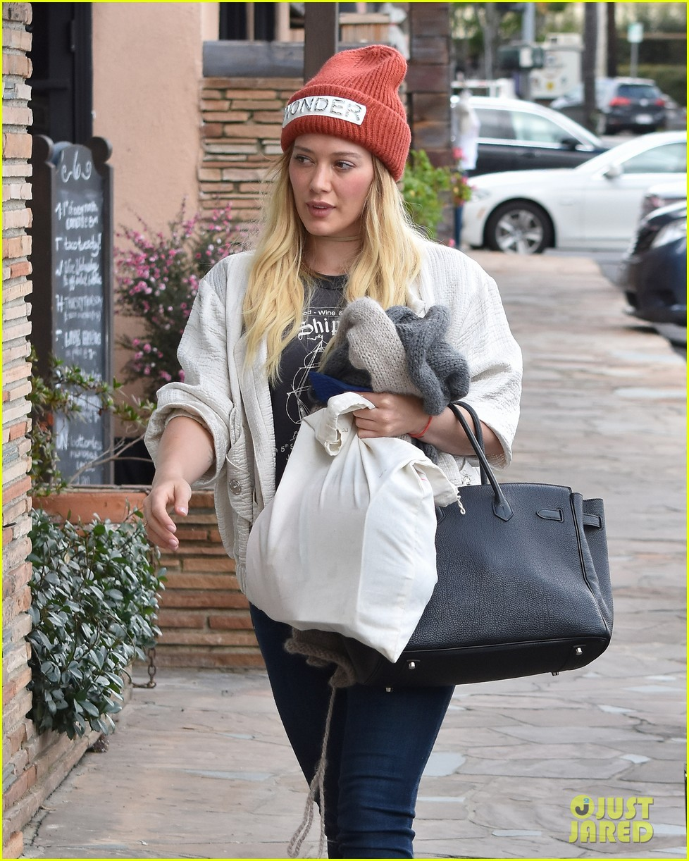 hilary duff lets fans know shes nursing herself back to health 133842731