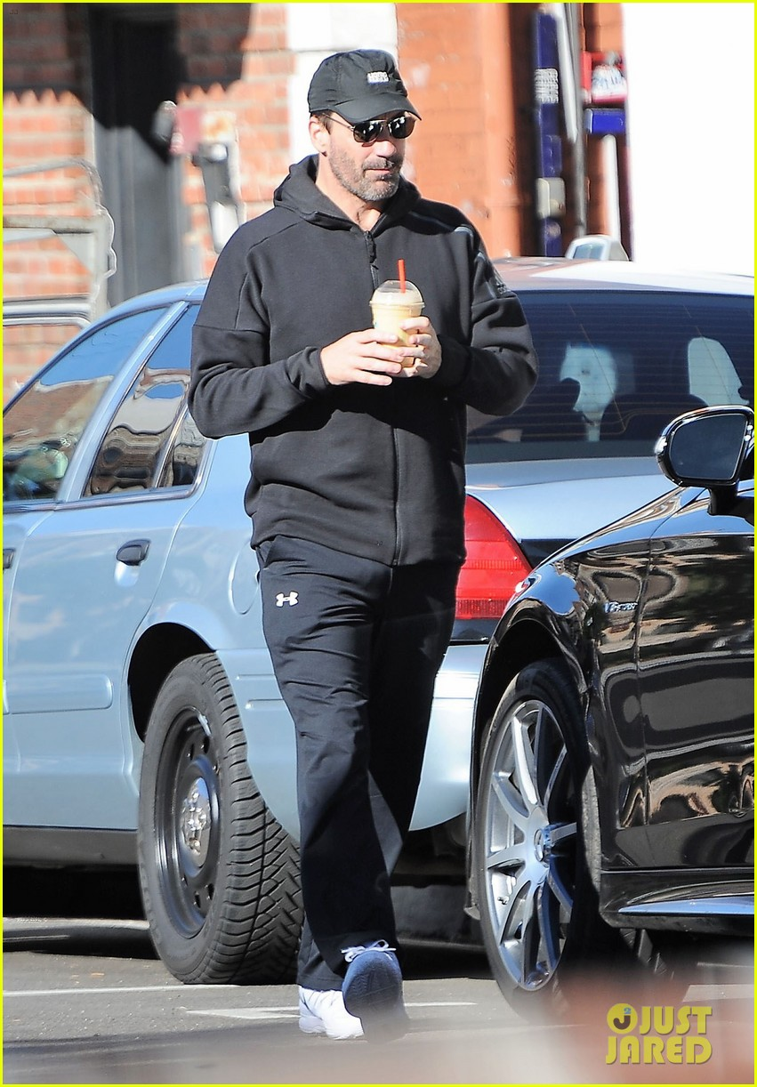 jon hamm steps out in sweats with a mystery girl 053848589