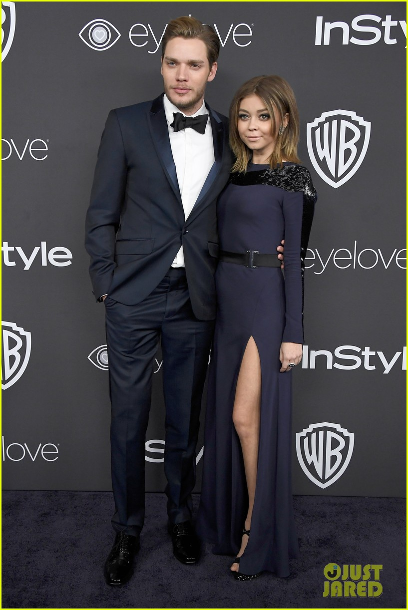 Sarah Hyland Dominic Sherwood Couple Up For Golden Globes 2017 After Party Photo 3839866 2017 Golden Globes Parties Dominic Sherwood Greer Grammer Katherine Mcnamara Lily Collins Marie Avgeropoulos Sarah Hyland Skylar