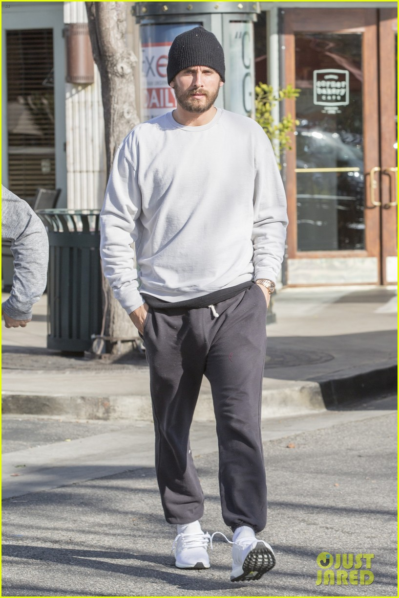 Kanye West Goes For Lunch With Scott Disick Wearing Adidas