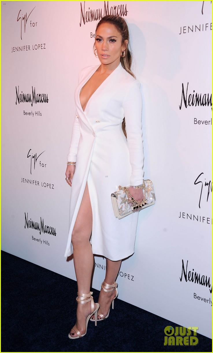 Jennifer Lopez Looks White Hot While Launching Her Shoe Line
