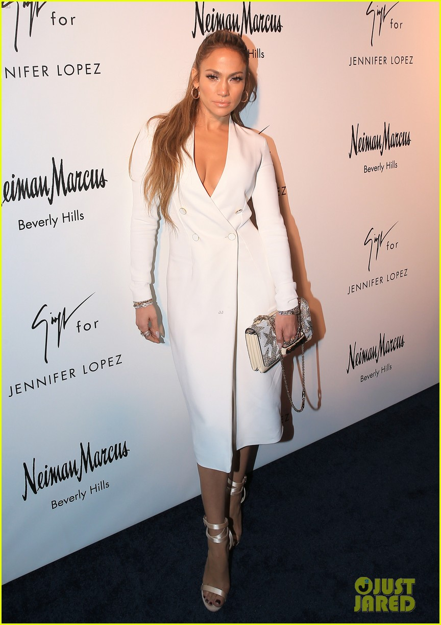 Jennifer Lopez Looks White Hot While Launching Her Shoe